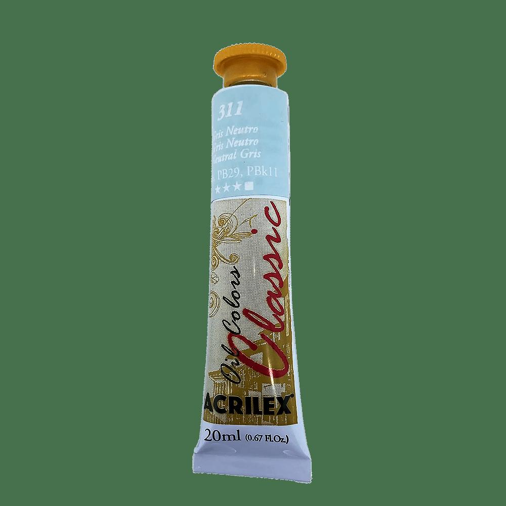 Tinta óleo 20ml gris neutro Acrilex