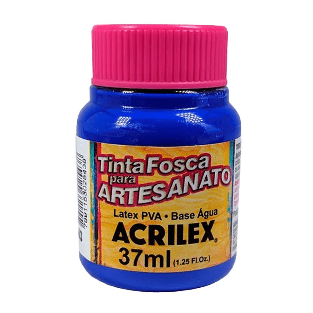 Tinta artesanato 37ml azul ultramar Acrilex