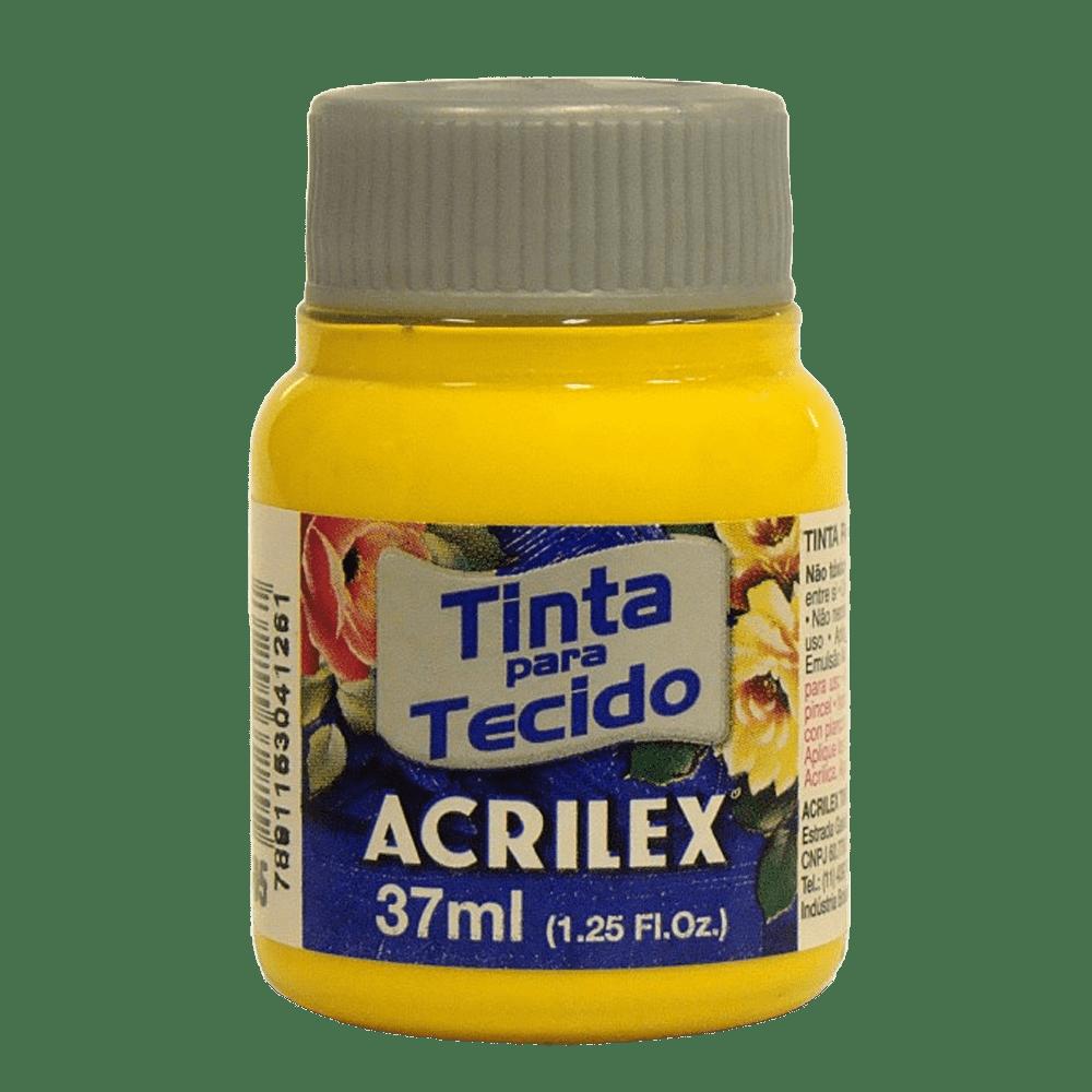 Tinta tecido 37ml amarelo ouro Acrilex