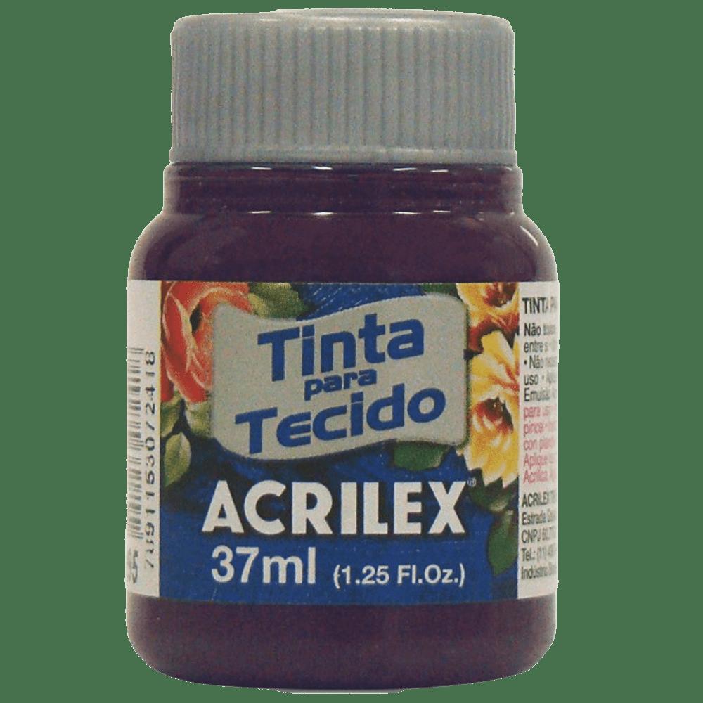 Tinta tecido 37ml uva Acrilex