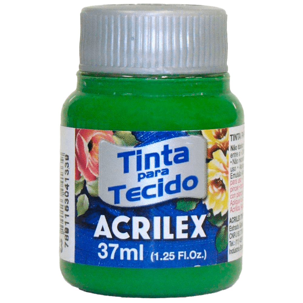Tinta tecido 37ml verde musgo Acrilex