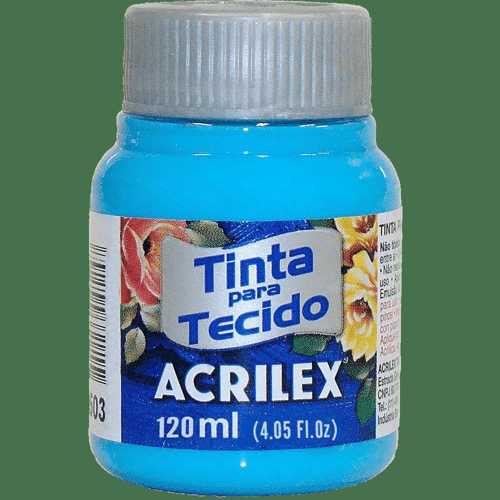 Tinta tecido 120ml Azul celeste Acrilex