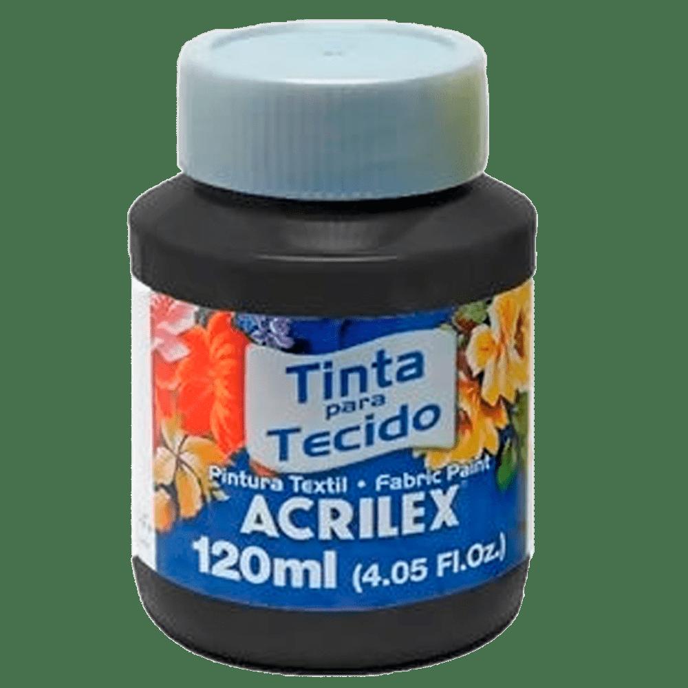 Tinta tecido 120ml Preto Acrilex