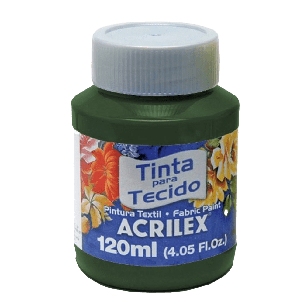 Tinta tecido 120ml verde pinheiro Acrilex