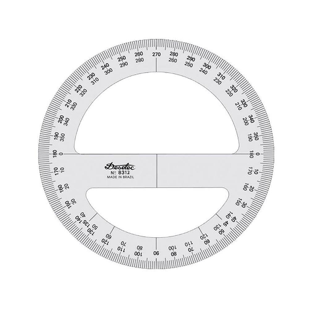 Transferidor técnico 360° 12 cm cristal Trident