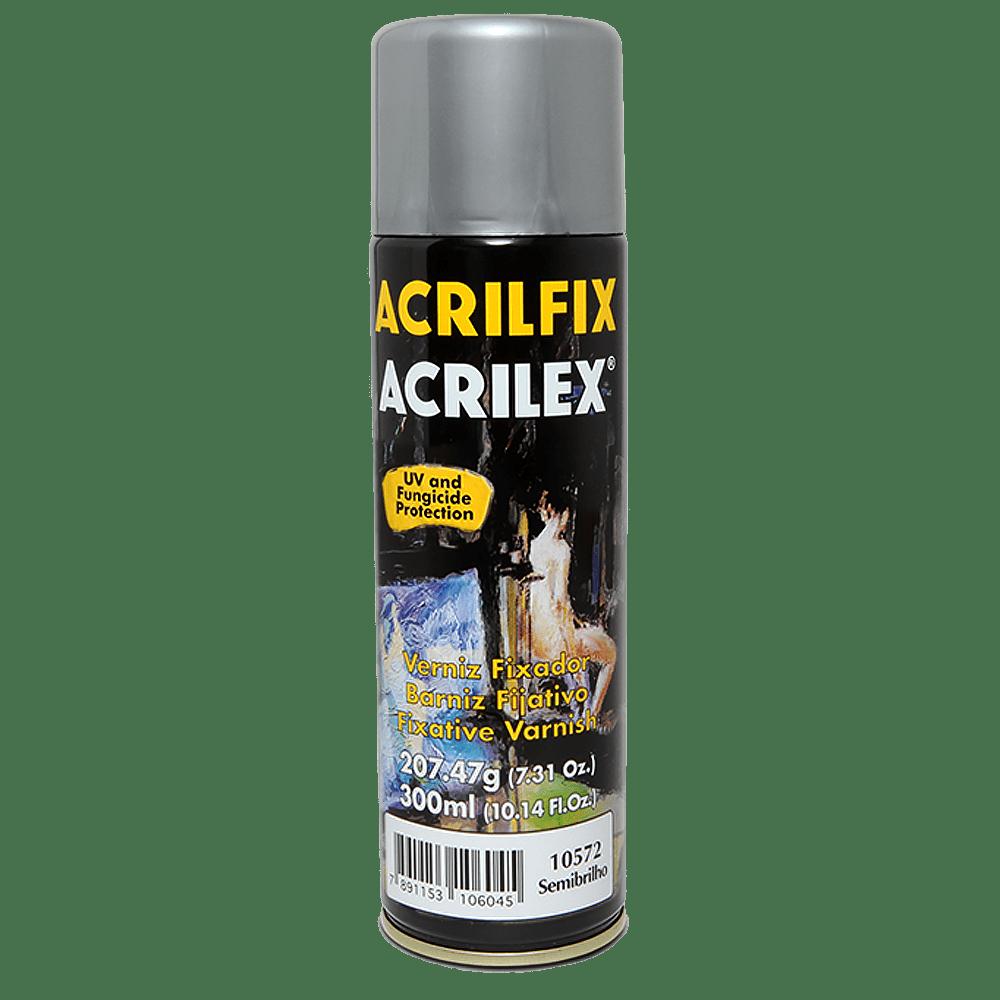 Verniz spray fixador 300ml semibrilho Acrilex