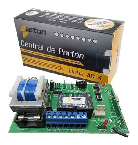 02pcs Central Motor De Portão Acton Encoder Nova Lei 15 Seg