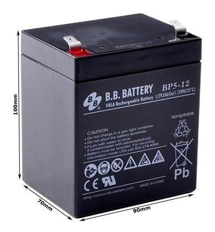 03pcs Bateria 12v 5ah Bb Battery Nobreak Sms Apc Bp5-12