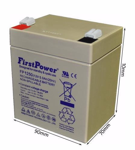 03pcs Bateria 12v 5ah First Power Fp1250 Nobreak Sms
