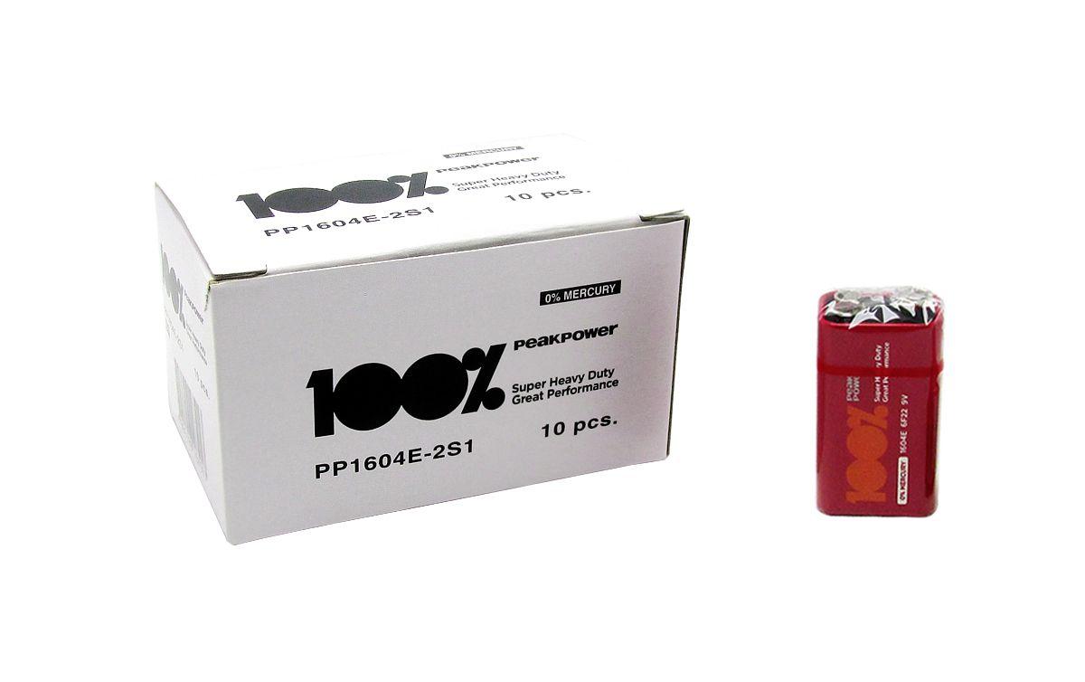 100pcs Bateria Pilha 9v 100% Peak Power Original Nota Fiscal