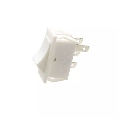 100pcs Chave Gangorra 3 Posições 4 Pinos Branca Kcd18