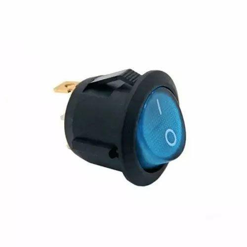 100pcs Chave Gangorra Luz Neon Azul 2 Posicoes Pacote Nova