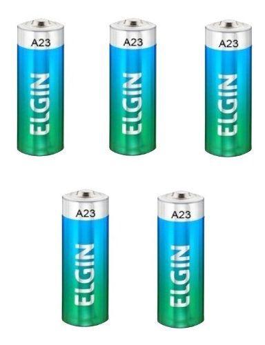 100pcs Pilha Bateria Elgin Original 12v A23 Controle Alarme