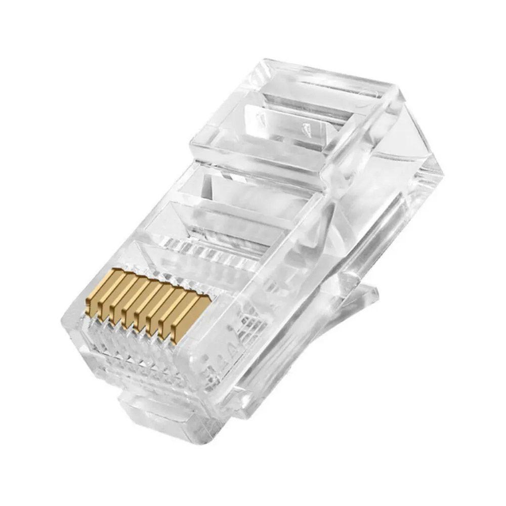 100pcs Plug Modular Conector Rj45 8x8 Cabo Rede Lan Pc