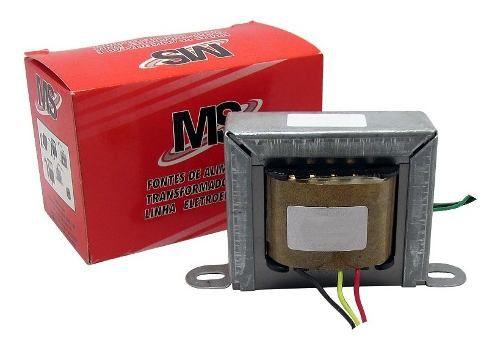Transformador Trafo 6+6v 1a Bivolt Eletronica