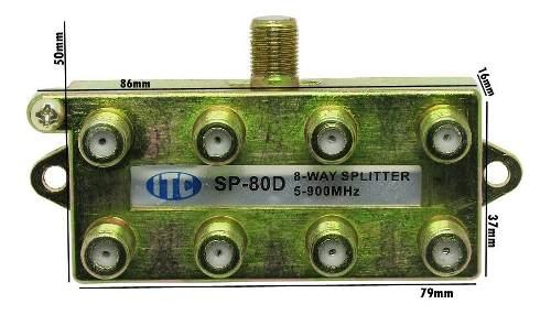 10pc Divisor Sinal 8 Saidas 5 A 900mhz Sinal Digital Vhf Uhf