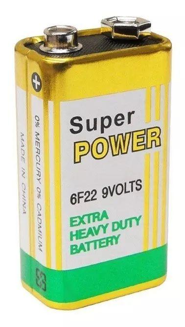 10pcs Bateria 9v Pilha Super Power Em Blister Original Nova