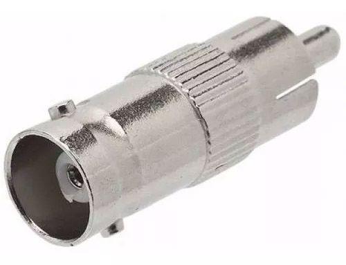 10pcs Conector Bnc Femea Rca Macho Cftv Tv Camera Adaptador
