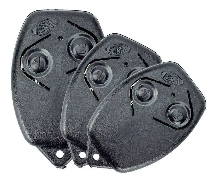10pcs Controle Remoto Portão Eletrônico Rossi 433mhz Original Kit Com 10 Unidades Segue Com Pilha