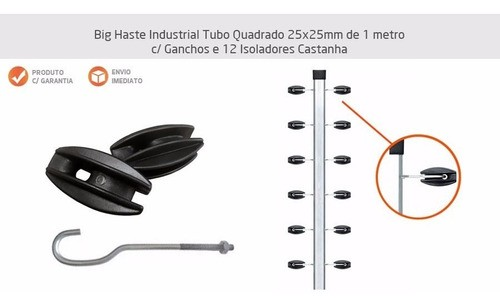 10pcs Haste Canto Cerca Elétrica Industrial 23x23 Aluminio