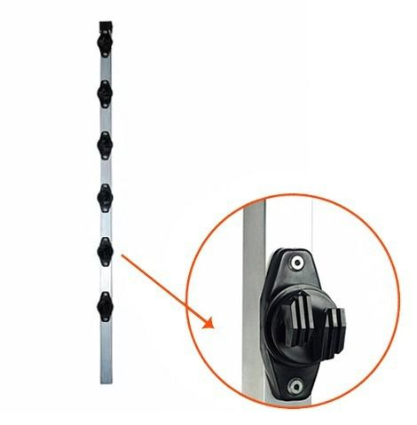10pcs Haste Cerca Elétrica 23x23 1mt 6 Isoladores Industrial