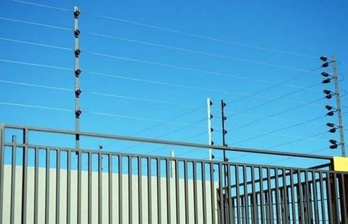 10pcs Haste Cerca Elétrica 23x23 1mt Industrial + Suporte