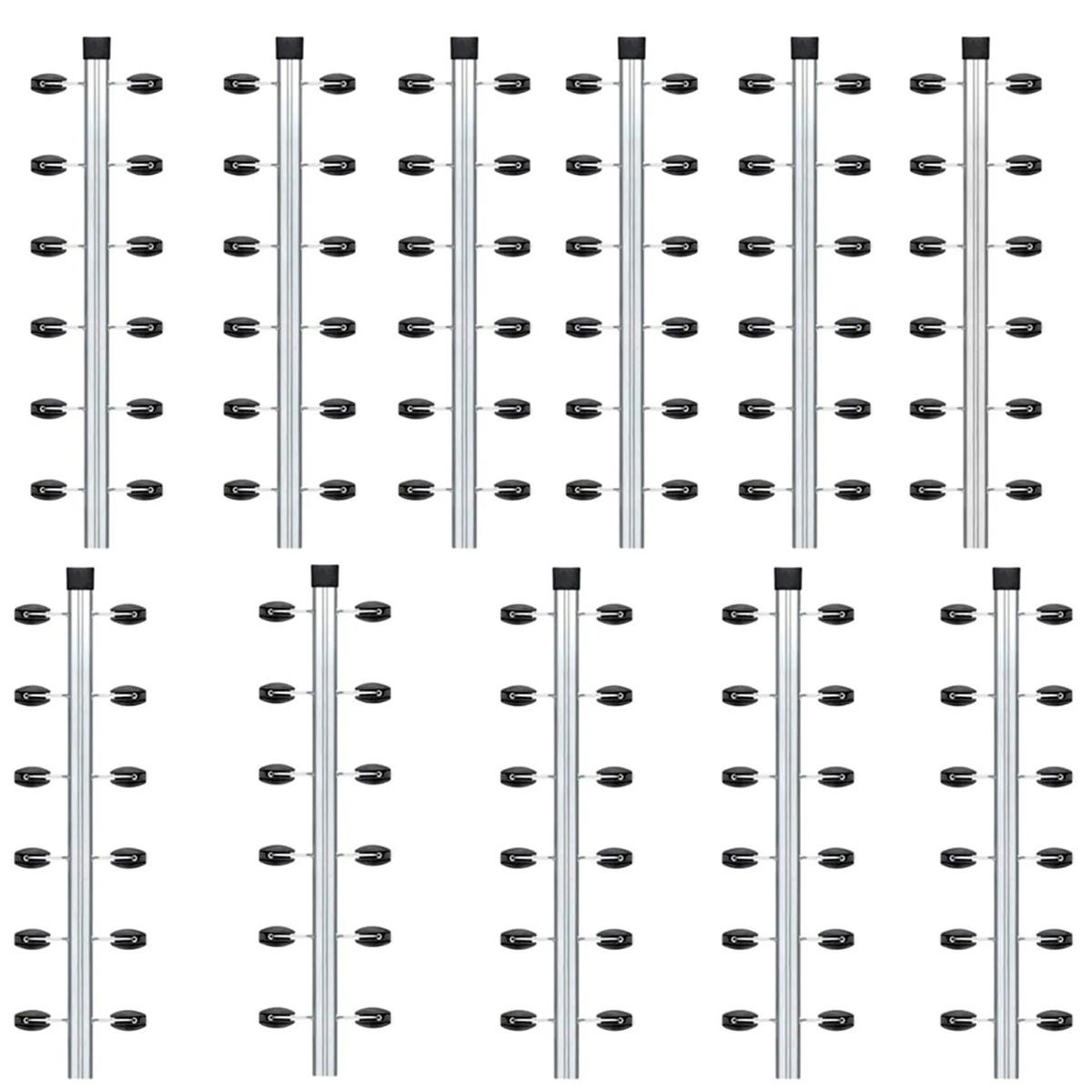 11pcs Haste Canto Cerca Elétrica Industrial 25x25 Aluminio 1m