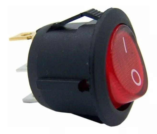 120pcs Chave Gangorra Luz Neon Vermelha 2 Posições Kcd1 102n