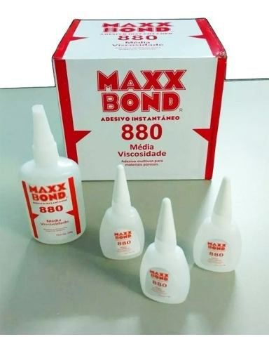 12pcs Cola Instantanea Maxx Bond 880 20g Caixa Nota Fiscal