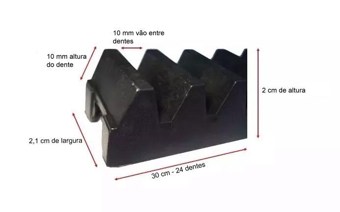 12pcs Gomo Peccinin Dz Gatter Dz Light Dz Super Nylon Original Para Cremalheira 30cm 12 Unidades De 30cm Total 3,60mts