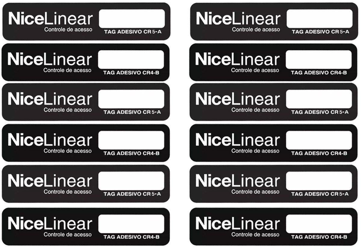 12pcs Tag Linear Original Adesivo Cr4 Hcs Etiqueta Sem Parar