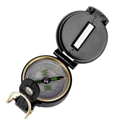 Bussola Profissional Militar Antena Parabolica Satelite Fácil Leitura Com Lente De Aumento