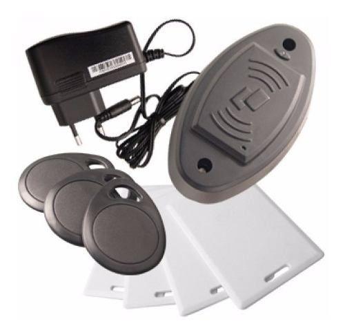 Kit Controle De Acesso Tags Fechadura Eletrica Chaveiro