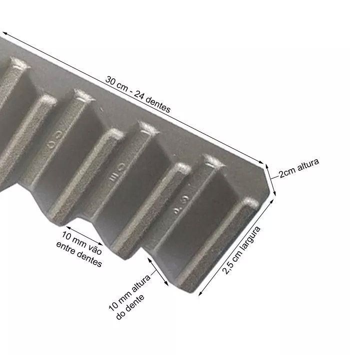 13pcs Gomo Peccinin Aluminio Dz Gatter Light Super Original Para Cremalheira 30cm 13 Unidades De 30cm Total 3,90mts