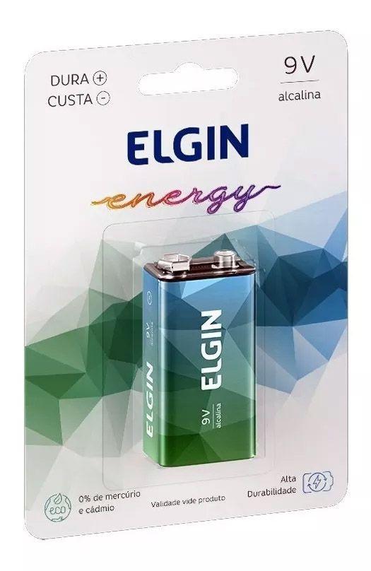 15pcs Bateria Elgin 9v Alcalina Pilha Caixa Original Nova