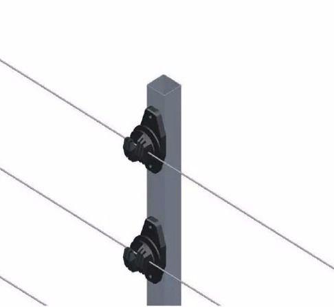 15pcs Haste Cerca Elétrica 23x23 1mt 6 Isoladores Industrial