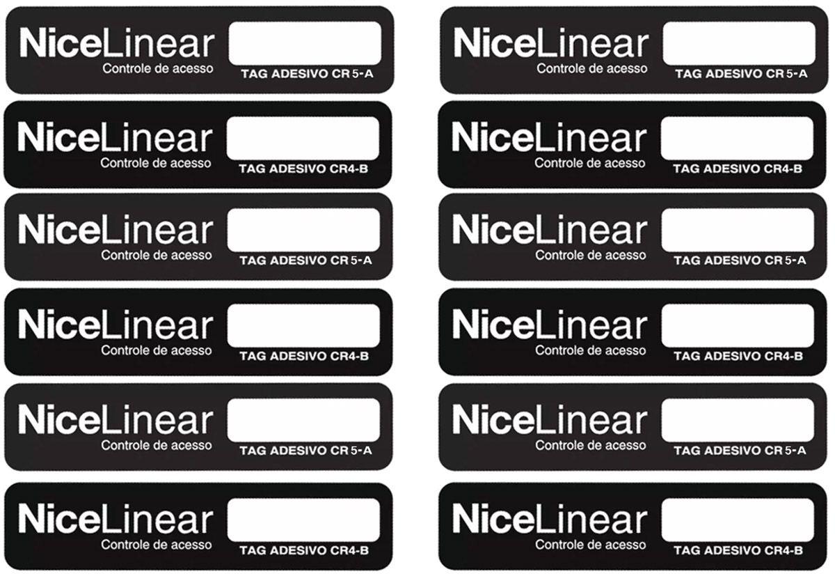 15pcs Tag Linear Original Adesivo Cr4 Hcs Etiqueta Sem Parar