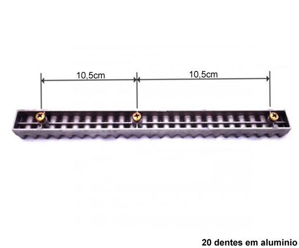 16pcs Gomo Rossi Original Aluminio Cremalheira 25cm M4 16 Unidades Com 25cm Cada Total 4 Metros