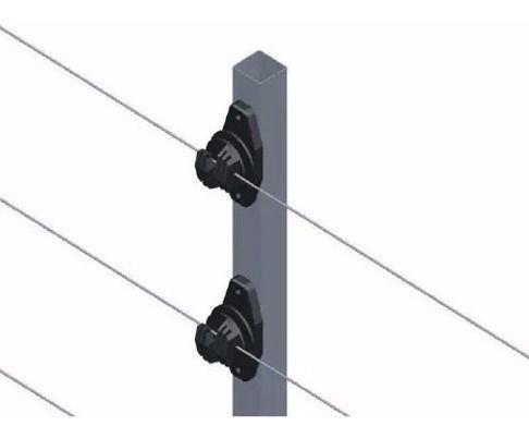 16pcs Haste Cerca 25x25 1 Metro Com 6 Isoladores W Chumbar