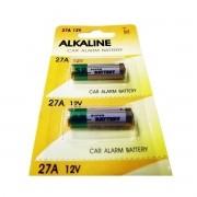 100pcs Pilha Bateria 12v A27 Fina Controle Portão Alarme