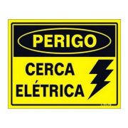 10pcs Placa Cuidado Cerca Elétrica Advertencia Nova Kit