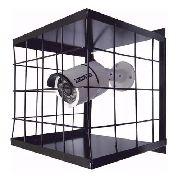 Grade Proteção Gaiola Câmera Segurança Cftv Preta 15x15cm