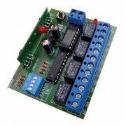 2pcs Receptor Ipec 4 Canais Portão Alarme Pulso Retenção 433