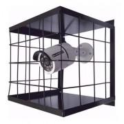 4pcs Grade Proteção Gaiola Câmera Segurança Cftv Preta 15x15