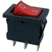 50pcs Chave Gangorra 2 Posições 3 Pinos Neon Vermelha 102n