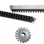 5mts Cremalheira Para Motor Portão Todas Marcas Garen Ppa + Engrenagem 17 dentes Rossi