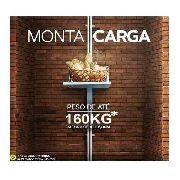 Elevador De Carga Rossi 3,00mts 80kgs 220v Fast Monta Carga Restaurante Monta Prato Pronta Entrega