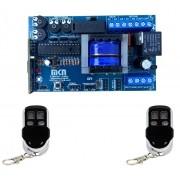 Central Mkn Hibrida 4 Trimpots Portao Automatico 2 Controles
