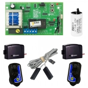 Kit Central Placa Portão Automático 02 Controles 02 Tx Car Sensor Capacitor
