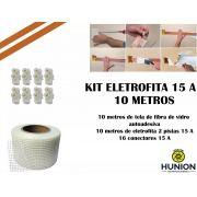 Kit Fita Elétrica Eletrofita 2 Pistas 10 Metros 750v/15amp